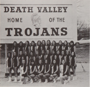 drill team trojan yearbook