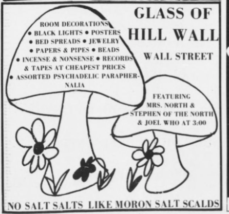 glass of hill wall ad aug 12 1970